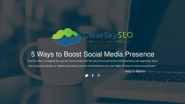 Give your brand's social media profiles a quick boost with help from Clear Sky SEO.
