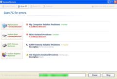 Fake System Restore starts bogus system scan