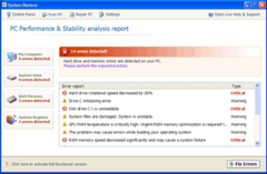Fake System Restore finishes system scan and lists bogus system errors