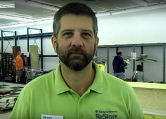 Dale Douthat, Director of the Habitat ReStore in Louisville, KY, is focused on increasing the number of Habitat houses built in Louisville each year.