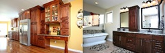 Louisville kitchen and bathroom remodeling company, Savvy Home Supply, offers custom cabinets, granite countertops, lighting, flooring and plumbing to clients in the Louisville, Kentucky-area.