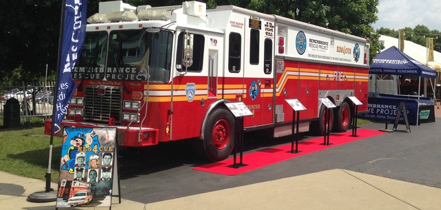 Former FDNY Rescue 4 from 9/11 on display.