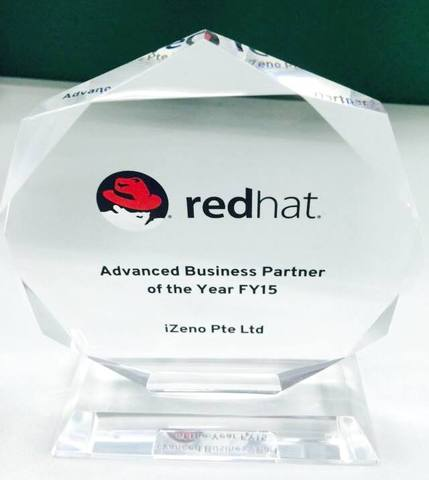 """iZeno Named as """"Red Hat's Best Advanced Partner of the Year in Singapore"""""""