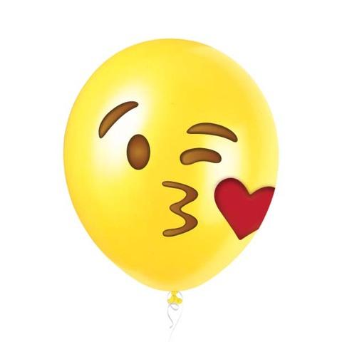 New kissy face Emoji Balloon