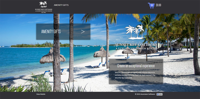Sunset Key Cottages now uses the ORION 4.0 platform for all amenity ordering.