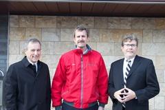 Ken Weber of Weber's, Steve Brouwer of A.R. Brouwer, and Mark von Werder of JPRA