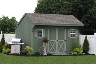 Assemble Your Own Amish Built Storage Shed or Car Garage Kit from Lancaster, PA