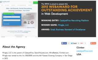 CatalystFive Wins 2015 WebAward for Outstanding Achievement