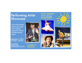 Young Audiences of Mass Presents Free Arts Showcase Sept. 17