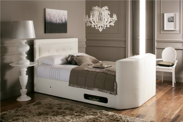 White Leather TV Beds