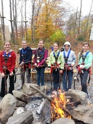 When the weather gets chilly at The Adventure Park, there's nothing like a welcoming fire pit to gather around in between climbs. (Photo: Outdoor Ventures)