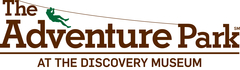 The logo for The Adventure Park at The Discovery Museum