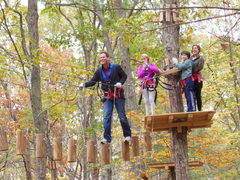 A climb at the Adventure Park is a great family activity. There are suitable aerial trails for ages seven through adult. (Photo: Outdoor Ventures)