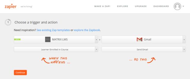 MATRIX integration with Zapier