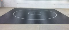 A Roll Out Mat Laid Out