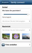 Screen shot from the MediFox CareMobile app on Windows Phone 7.