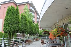 Patio for residents and families to enjoy, Menno Hospital