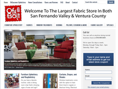 Off The Bolt Fabrics new website with email marketing and built-in SEO