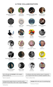 A few collaborators and artists who support Artchyls such as Alexandre Deschaumes, Balazs Solti, David Olkarny, Habbenink, Robert Farkas and many others.