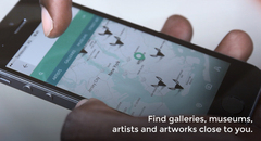 Find galleries, museums, artists and artworks close to you.