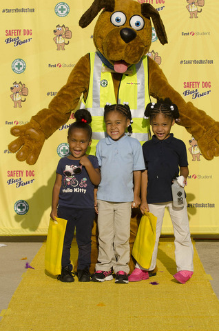 Safety Dog encourages school bus safety during National School Bus Safety Week.