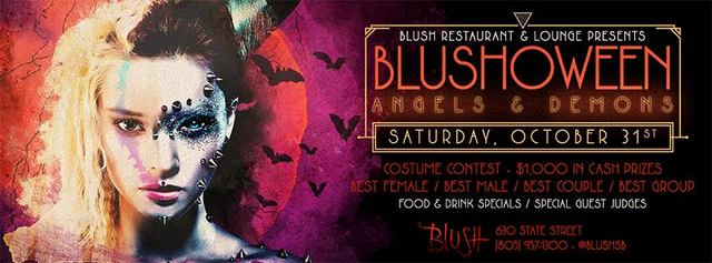 It's Not Just Halloween – It's Blushoween on Saturday, October 31, beginning at 9:00 p.m., Blush Restaurant + Lounge