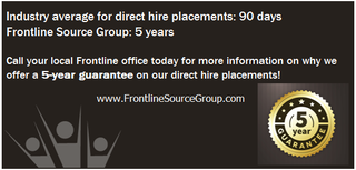 Austin Staffing Agency – Frontline Source Group – New 5 Year Guarantee on Direct Hire Placements