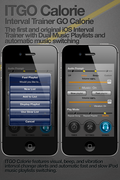 With ITGO CALORIE users can create custom fast and slow dual Music playlists