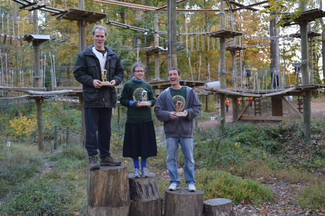 Iron Monkey Winners (L-R) Noa Booz (1st Place); Braha Paull (2nd Place); Nathan Walker (3rd Place). (Photo: Outdoor Ventures)