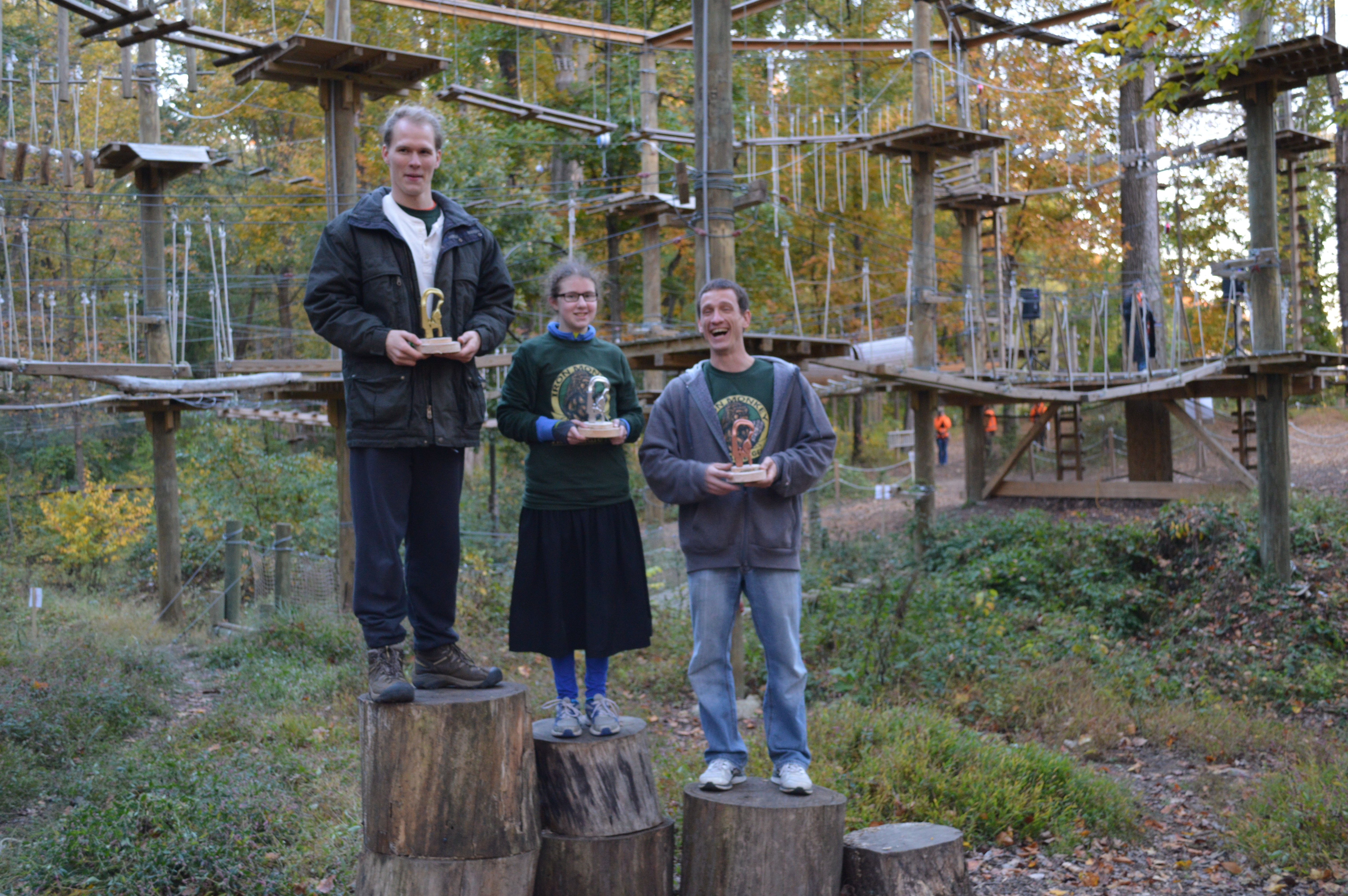 Adventure Park Athletes Compete In Sandy Spring S Treetops At First Ever Iron Monkey Challenge