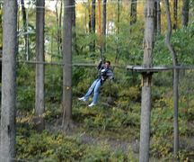 Nathan Walker in mid air during the Iron Monkey Challenge at The Adventure Park at Sandy Spring. He won a Third Place trophy. (Photo: Outdoor Ventures)