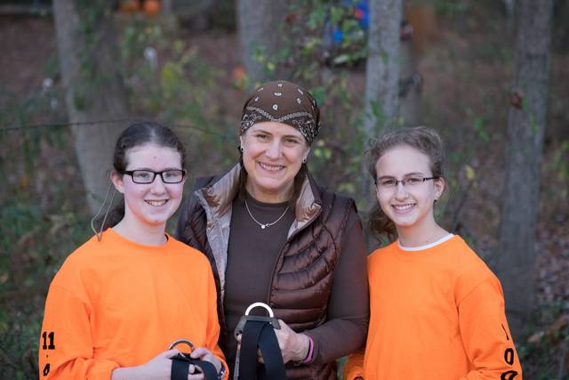 Climbing champions, Esther Paull with her daughters, Bracha (left) and Chaya at The Adventure Park at Sandy Spring Friends School. (Photo: Outdoor Ventures)