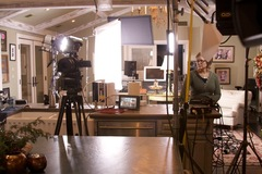 Simply Devine Decor behind the scenes of Hallmark production at Jewel's studio home.