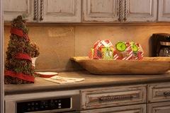 Kitchen set design for Hallmark's Holiday program at Jewels' studio home in Texas.