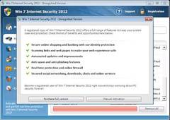 Windows 7 Internet Security 2012 urges user to purchase full version