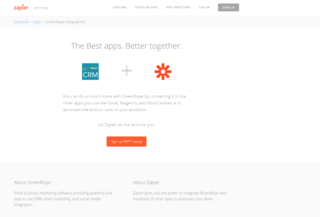 GreenRope Officially on Zapier to Integrate with Everything