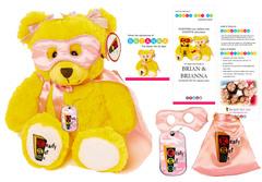 Brianna Superhero Bear and Therapy Kit new from Ready Set Go LLC
