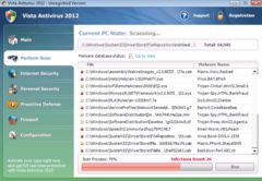 Windows Vista Antivirus 2012 runs bogus system scan