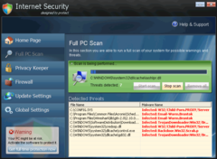Internet Security interface and scanner