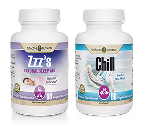 Soothe your mood with our Natural Stress Relief Supplements and wake up refreshed with our Natural Sleep Aid!