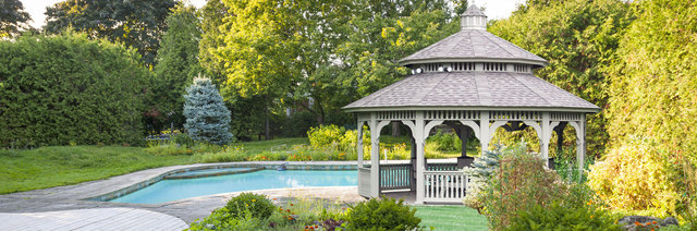 Gazebos From Lancaster County Backyard come with many options to make it truly a relaxing place to enjoy!