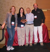 Accepting the trophy for OV and its parks were Kema Geroux for The Adventure Park (Virginia Beach), Emilie McIntosh (Maryland) , Bahman Azarm, and John Hines, Outdoor Ventures partners.