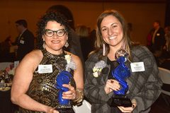 Dr. Stacie Grossfeld with Summer Auerbach at the 2016 National Association of Women Business Owners EPIC Award Ceremony.
