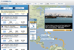 Search for cruises on CruiseWise using a comprehensive, user-friendly interface.