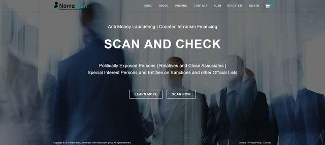 NameScan Anti Money Laundering Service