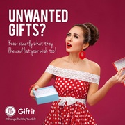 Unwanted gifts? Know exactly what your friends want and contribute any amount.
