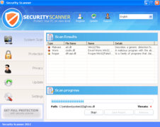 Security Scanner 2012 - Scanner interface