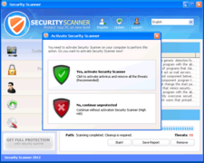 Avoid activating Security Scanner 2012