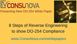 "ConsuNova Releases new DO-254 whitepaper ""8 Steps of Reverse Engineering to show DO-254 Compliance"""