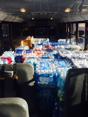 First Student Locations Collect Thousands of Bottles of Water for Flint Residents